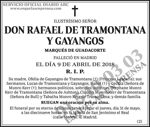 Rafael de Tramontana y Gayangos